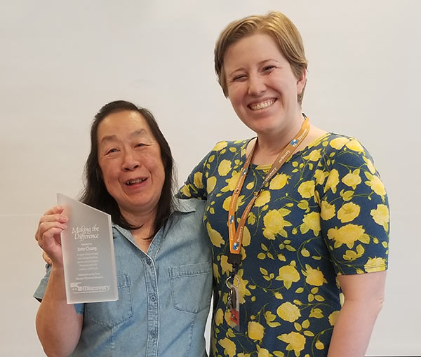 2018 Volunteer of the Year Jane Chang