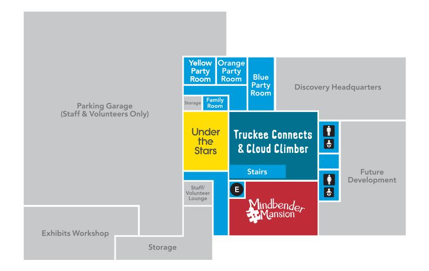 Lower Level Floor Plan with Mindbender Mansion