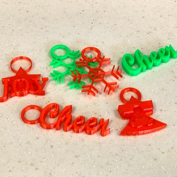 3-D Holiday Ornaments