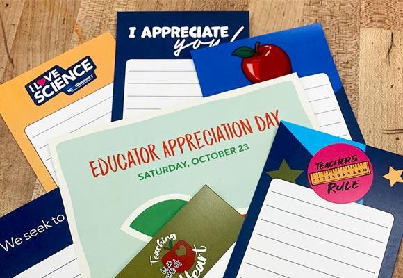 Educator Appreciation Bookmarks