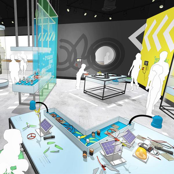 Energy/Energía Exhibition Rendering